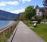 Waterfront Walkway looking west