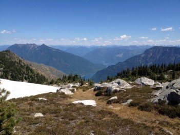 View from Ingersoll Mountain, near Nakusp